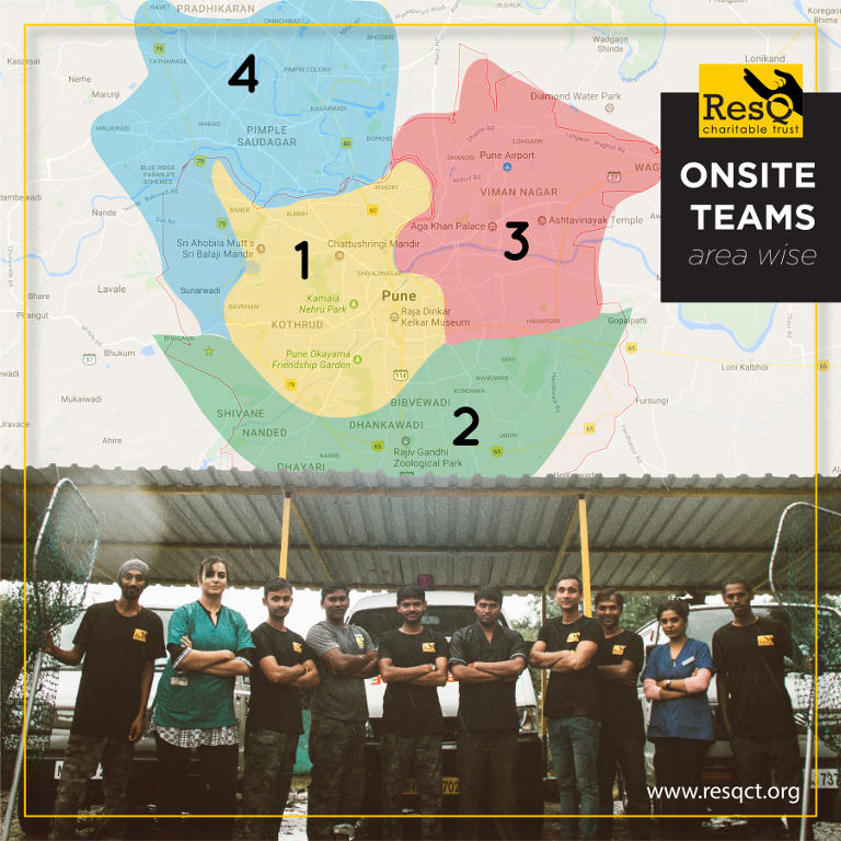Area Wise Onsite Teams